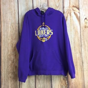 💸Adidas Low Angeles Lakers pullover hoodie sz L